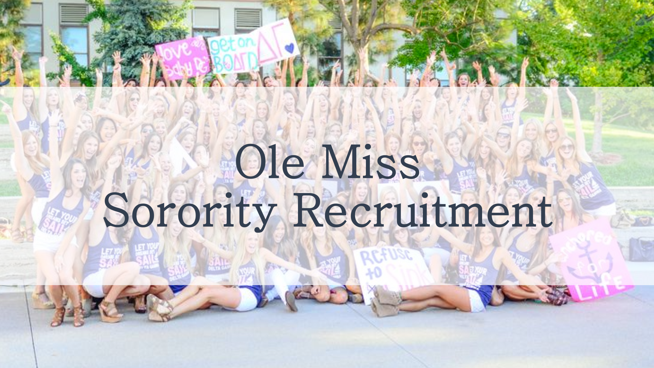 ole miss sorority recruitment 2019, sorority rush