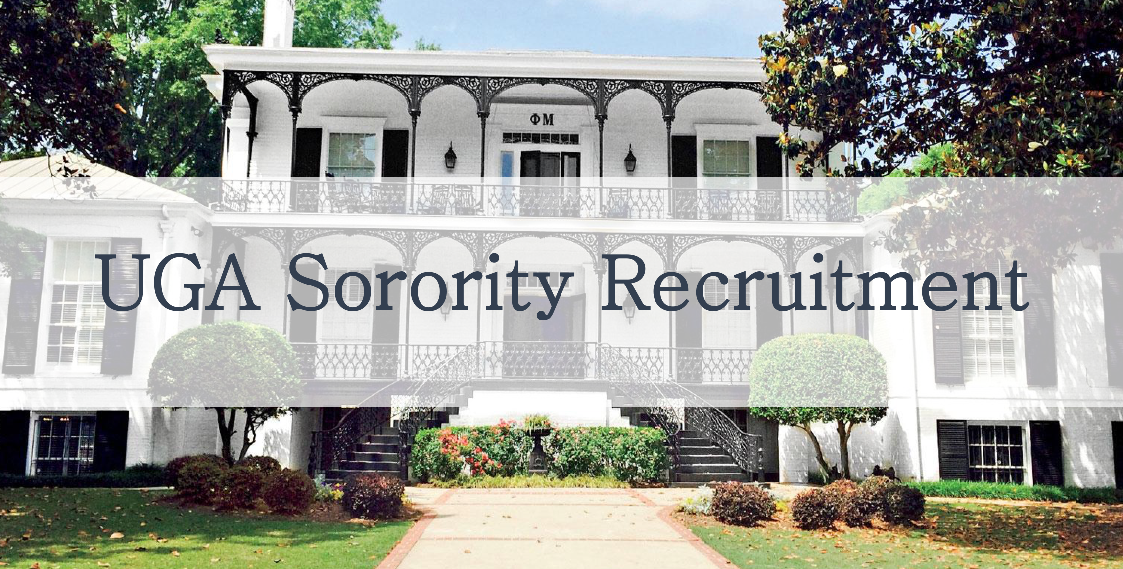 UGA Tri Delta House sorority chapter, sorority recruitment, University of Georgia, top houses